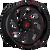 20x10 6x5.5 4.75BS D638 Vortex Gloss Black - Fuel Off Road Wheels