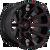 22x10 6x5.5/6x135 4.75BS D643 Contra Gloss Black w/Red - Fuel Off-Road