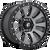 17x9 5x5 4.53BS D648 Tactic Matte Gunmetal - Fuel Off-Road