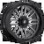 22x12 6x5.5 4.81BS D622 Ignite Gloss Black Milled - Fuel Off-Road