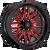 22x12 5x5 4.81BS D633 Ignite Gloss Black w/Red Tint - Fuel Off-Road