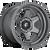 18x9 5x5 4.53BS D665 Shok Matte Gunmetal - Fuel Off-Road