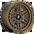 17x9 6x5.5 5.04BS D669 Nitro Matte Bronze - Fuel Off-Road