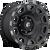 17x9 5x5 4.53BS D686 Vengance Matte Black w/Mach & DDT - Fuel Off-Road