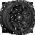 17x9 8x180 5.04BS D694 Covert Matte Black - Fuel Off-Road