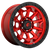 20x9 8x180 5.04BS D695 Covert Candy Red Black Bead Ring - Fuel Off-Road