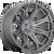 24x12 5x5 4.77BS D705 Siege Brushed Gunmetal - Fuel Off-Road
