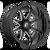 22x12 8x180 4.77BS D749 Hammer Gloss Black Milled - Fuel Off-Road