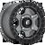 15x7 4x156 6.17BS D915 Gatling Matte Gunmetal - Fuel Off-Road