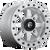 14x7 4x156 5.5BS D936 Maverick BL Raw - Fuel Off-Road
