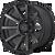 18x9 8x180 5.47BS XD847 Outbreak Satin Black - XD Wheels