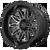 22x10 5x5/5x5.5 4.79BS XD859 Gunner Gloss Black Machined W/Grey - XD Wheels
