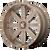 18x7 4x137 4BS M34 Flash Bronze Milled - MSA Wheels
