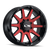20x9 8x180 5BS Type 143 Black W/Red Face - Ion Wheel