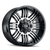 17x9 6x5.5/6x135 4.53BS Type 144 Black w/Machined Face - Ion Wheel