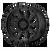 18x9 6x135 5BS AR202 Black Iron - American Racing