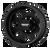 17X6.5 8X6.5 -1.78BS AR204 Baja Dually Rear Satin Black - American Racing