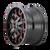 20x9 8x180 5BS 8015 Warrior Black w/Prism Red - Mayhem Wheels
