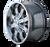20x9 6x135 4.53BS 8102 Beast Gloss Black/Milled Spokes - Mayhem Wheels