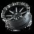 18x9 5x5 4.53BS Arsenal Gloss Black/Milled Spokes - Mayhem Wheels
