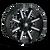 18x9 5x5.5 5.71BS Arsenal Gloss Black/Milled Spokes - Mayhem Wheels
