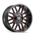 20x9 8x180 5BS 8107 Cogent Gloss Black/Milled Spokes w/Prism Red - Mayhem Wheels