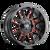 17x9 8x170 4.53BS 8107 Cogent Gloss Black/Milled Spokes w/Prism Red - Mayhem Wheels