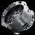 20x10 8x180 4.75BSBS 8111 Flywheel Gloss Black/Milled Spokes - Mayhem Wheels