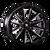 22x9.5 6x4.5 6.23BS 8109 Crossfire Black/Milled Spokes - Mayhem Wheels