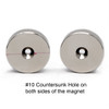 """1-1/2"""" x 3/8"""" Neodymium Rare Earth Disc Magnet w/ #10 Countersink on Both Sides"""
