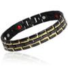 Magnetic Bracelet Novoa Men's Quad-Element Gloss Black Stainless Steel