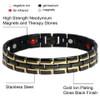 Magnetic Bracelet Novoa Men's Quad-Element Gloss Black Stainles
