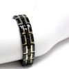 Magnetic Bracelet Novoa Men's Quad-Element Gloss Black Stainless