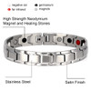 magnetic-bracelet-jewelry  Novoa Men's Quad Brushed Stainless B422d