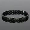 Magnetic bracelet Novoa Women 's Quad-Element Titanium Two-Tone Gloss Black Magnetic Bracelet with Satin Accents - 12,800 Gauss B428QD