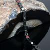 """<img src="""" womens Black Titanium magnet bracelet .png"""" alt=""""Quad-Element Titanium Two-Tone Gloss Black Magnetic Bracelet with Satin Accents - 12,800 Gauss B428QD       """">"""