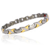 "<img src="" womens silver & Gold  magnet bracelet .png"" alt=""Magnetic Bracelet Jewelry Gold Magnetic Bracelet -  B428J       "">Magnetic Bracelet Jewelry Gold Magnetic Bracelet -  B428J"