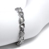 """<img src="""" womens  silver heart magnet bracelet .png"""" alt=""""casual magnetic therapy jewelry  strong  top view  Magnetic bracelet Novoa Women 's  Silver Heart Magnetic B185"""