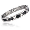 "<img src=""mens  magnetic bracelet .png"" alt=""casual magnetic therapy jewelry  strong  front view    Magnetic Bracelet Novoa Men's Quad-Element Satin Stainless  B072J   Novoa Men's Quad-Element Polished Silver Titanium Magnetic Bracelet with Carbon Fiber Inlays  "">"