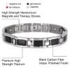 "<img src=""mens  magnetic bracelet .png"" alt=""casual magnetic therapy jewelry  strong  side  view    Magnetic Bracelet Novoa Men's Quad-Element Satin Stainless  B072J   Novoa Men's Quad-Element Polished Silver Titanium Magnetic Bracelet with Carbon Fiber Inlays  "">"