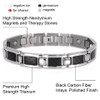 "<img src=""mens  magnetic bracelet .png"" alt=""casual magnetic therapy jewelry  strong  side  view    Magnetic Bracelet Novoa Men's Quad-Element Satin Stainless  B072J   Novoa Men's Quad-Element Polished Silver Titanium Magnetic Bracelet with Carbon Fiber Inlays  "">"