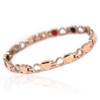 "<img src="" womens  gold color magnet bracelet .png"" alt=""casual magnetic therapy jewelry  side view Magnetic  bracelet Jewelry Quad-Element Titanium Rose Gold  B185QM"">"