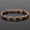 """<img src="""" womens  gold color magnet bracelet .png"""" alt=""""casual magnetic therapy jewelry  side view Magnetic  bracelet Jewelry Quad-Element Titanium Rose Gold  B185QM"""">"""