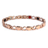 "<img src="" womens  gold color magnet bracelet .png"" alt=""casual magnetic therapy jewelry top view Magnetic  bracelet Jewelry Quad-Element Titanium Rose Gold  B185QM"">"
