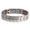 "<img src="" mens silver stainless  magnet bracelet .png"" alt=""casual magnetic therapy jewelry   Front view         Magnetic bracelet jewelry Novoa Women 's - 12,800 Gauss B428 Magnetic  bracelet Jewelry   Novoa Men's Quad-Element  B246"">"