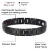 "<img src="" Magnetic Bracelet  Novoa Men's Quad-Element Black  B422QD .png"" alt=""casual magnetic therapy jewelry   Front view         "">"