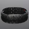 "<img src="" Magnetic Bracelet  Novoa Men's Quad-Element Black  B422QD .png"" alt=""casual magnetic therapy jewelry   side  view         "">"