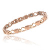"""<img src="""" womens  stainless & gold color magnetic bracelet .png"""" alt=""""casual magnetic therapy jewelry   side view Magnetic  bracelet Jewelry Novoa Women 's  Rose Gold  B185QM-0"""">"""