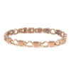"<img src="" womens stainless & gold color magnet bracelet .png"" alt=""casual magnetic therapy jewelry   side view Magnetic  bracelet Jewelry Novoa Women 's  Rose Gold  B185QM-0"">"