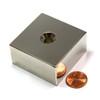 Neodymium Block Countersunk Magnet